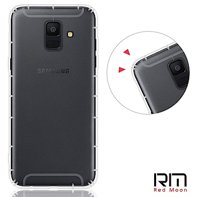 RedMoon 三星 Galaxy A6(2018) 5.6吋 防摔透明TPU手...