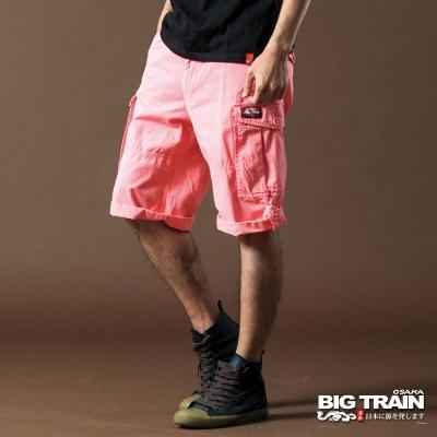 BIG TRAIN-貼袋短褲 -粉紅