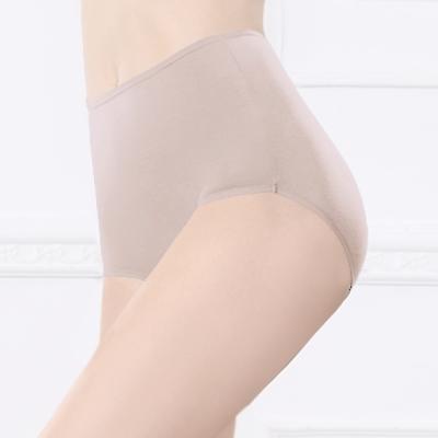 內褲 天然健康絲蛋白M-2XL高腰褲 優雅紫 可蘭霓Clany