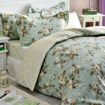 Tonia-Nicole東妮寢飾-戀花序曲精梳棉兩用被床包組-加大