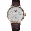 ELYSEE  Classic Sithon 復古放大紳士機械腕錶-玫瑰金色/42mm