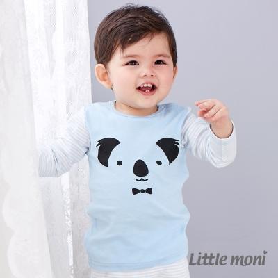 Little moni 純棉家居系列動物印圖上衣 亮天藍