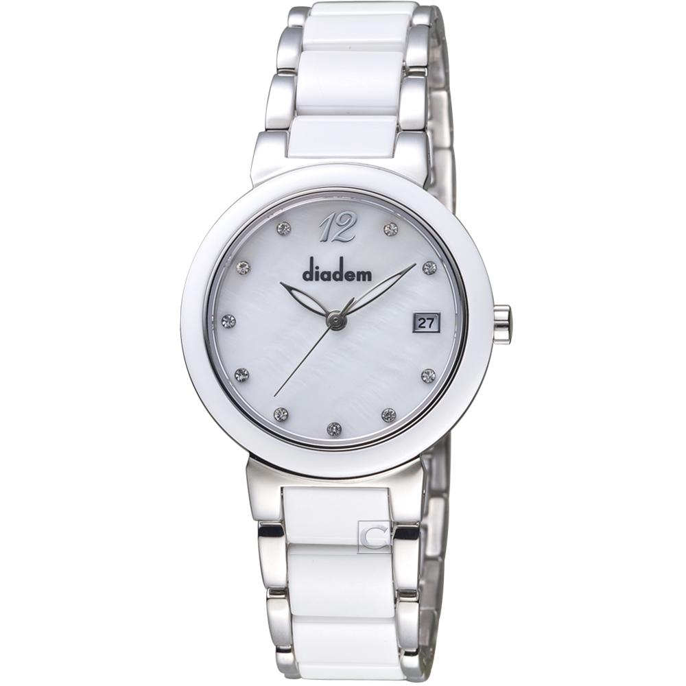 Diadem黛亞登經典時尚陶瓷腕錶( 7D1712-521S-S )-32mm