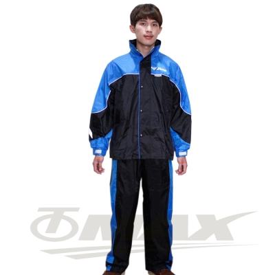 JUMP新TV2套裝雨衣+通用鞋套-黑藍