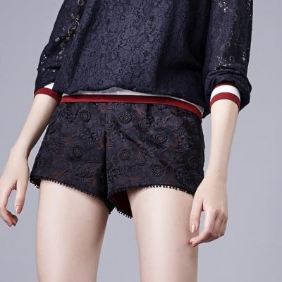 蕾絲織布短褲-everysum
