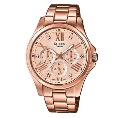 SHEEN 羅馬時刻SWAROVSKI 腕錶(SHE-3806PG-9A)-玫瑰金/39.3mm