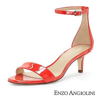 ENZO ANGIOLINI--一字低跟涼鞋-夏日紅