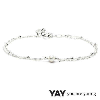 YAY You Are Young 法國品牌 Stella 珍珠手鍊 925純銀