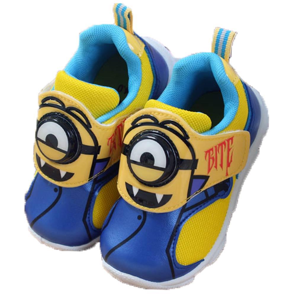 魔法Baby台灣製小小兵兒童閃燈運動鞋sh7087