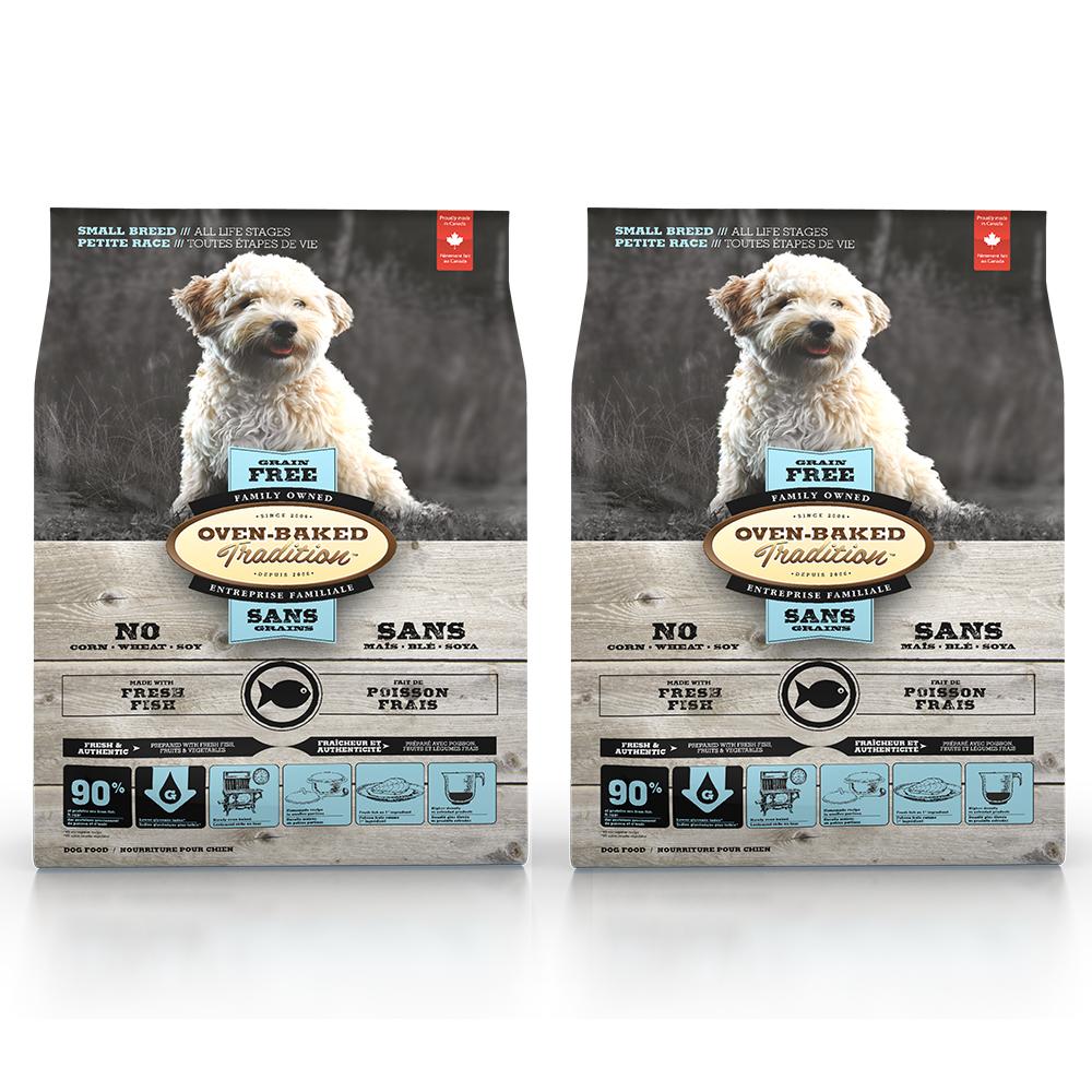 Oven-Baked烘焙客 無穀魚肉配方 全犬 天然糧 5磅 / 2.27kg x 2入