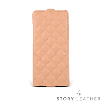 STORYLEATHER Note 8 Style-N84 硬殼式下蓋菱格 客製...