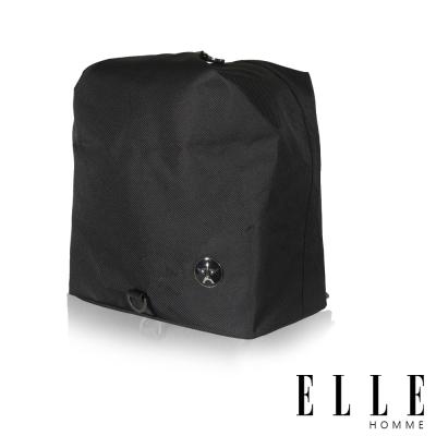 ELLE-HOMME-巴黎風輕旅商務休閒多功能斜-肩背包-黑
