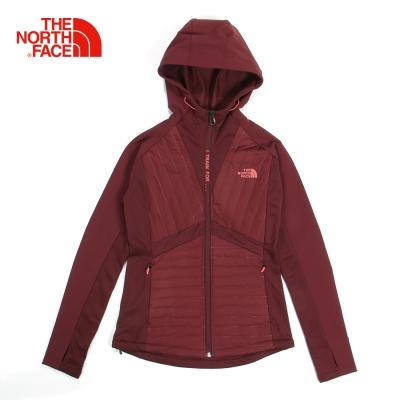 The North Face北面女款紅色保暖速乾運動鋪棉外套