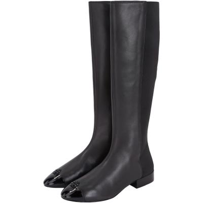 TORY BURCH Jolie 皮革拼接長靴(黑色)