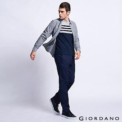 GIORDANO 男裝基本款休閒長褲-66 標誌海軍藍
