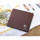 JINBAOLAI   GT1715BR韓版圓紋造型皮夾咖啡色 product thumbnail 1