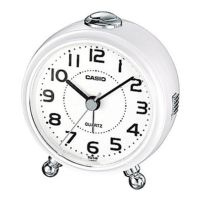 CASIO 經典輕巧桌上型指針鬧鐘-白(TQ-149-7)