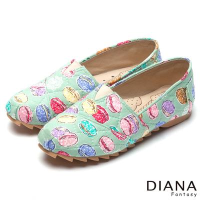 DIANA-超厚切冰淇淋款-法式馬卡龍樂福休閒鞋-綠