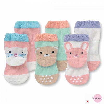 Japan-Imports-可愛動物款嬰兒止滑襪三