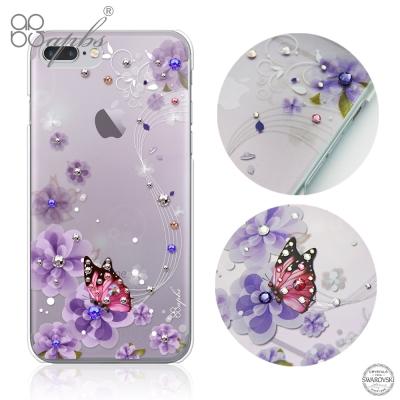 apbs iPhone8/7 Plus 5.5吋施華洛世奇彩鑽手機殼-迷情蝶戀