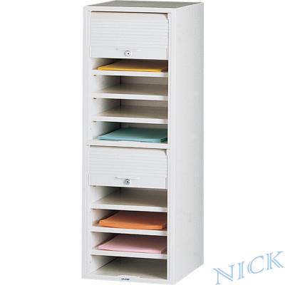 【NICK】CP單排塑鋼捲門式公文櫃_十層