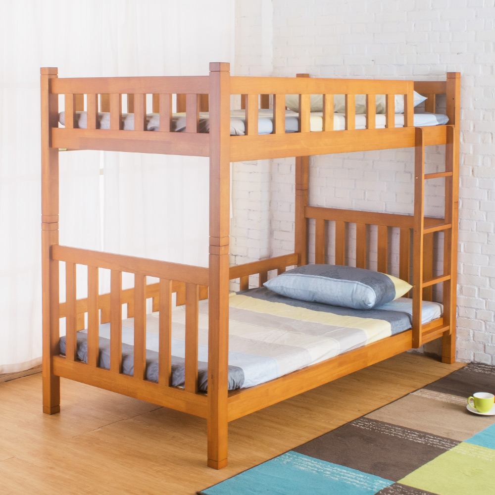 Bernice-丹尼斯3.7尺單人實木雙層床架