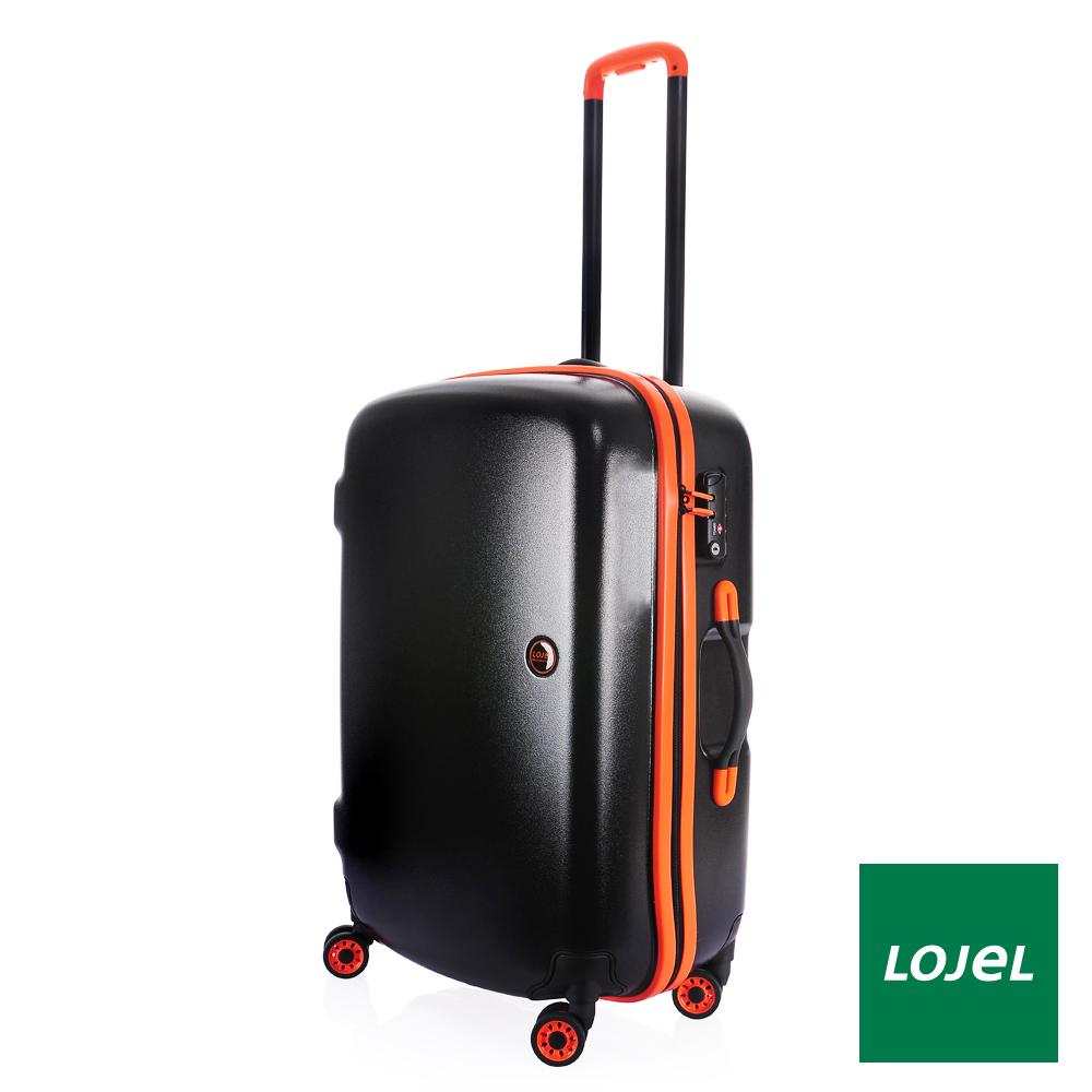 日本LOJEL 25吋 進化型PC外殼防雨拉鍊行李箱 / 旅行-橘