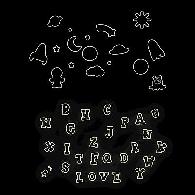 Pond's 夜光壁貼~英文字母、太空世界Y0001、05