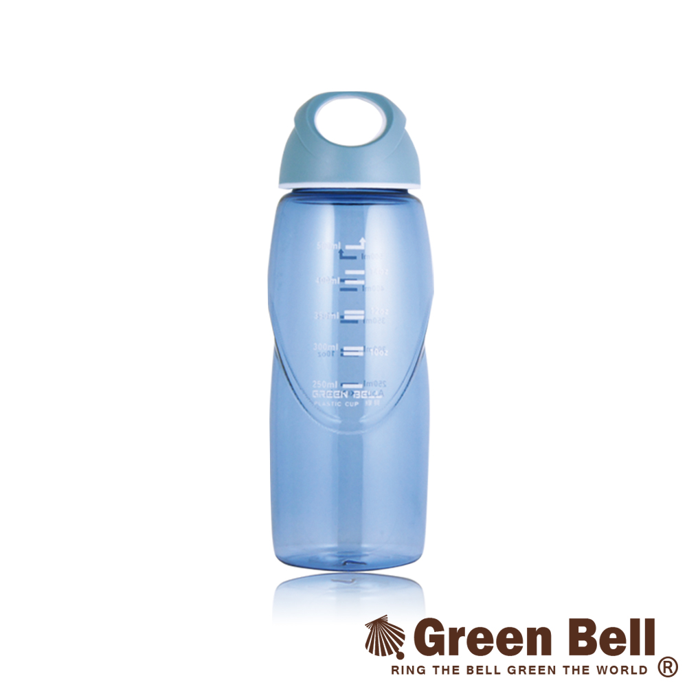 GREEN BELL綠貝輕巧隨手水壺500ml-藍