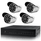 【CHICHIAU】4路AHD高清遠端監控套組(八陣列燈130萬攝影機x4)