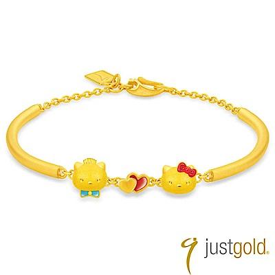 鎮金店Just Gold Kitty & Daniel 浪漫約定黃金手環