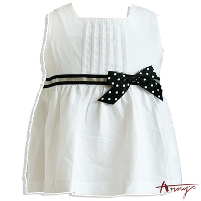 Annys甜美可愛點點蝴蝶結壓褶上衣*1171白