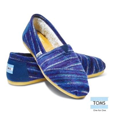 TOMS 經典針織懶人鞋-女款(藍色)