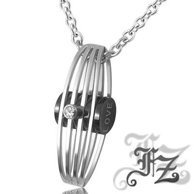 FZ  守護一世情懷白鋼項鍊(黑)