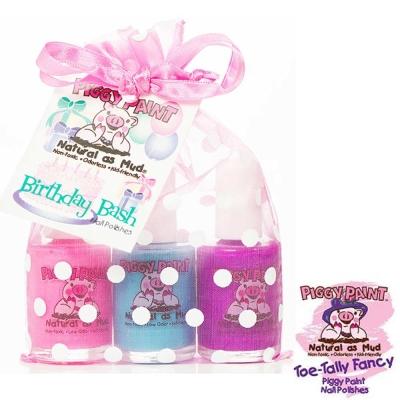 Piggy Paint 天然無毒兒童專用指甲油禮盒組-小俏皮
