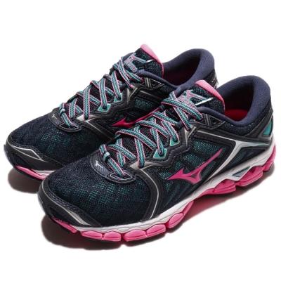 Mizuno 慢跑鞋 Wave Sky 運動 女鞋