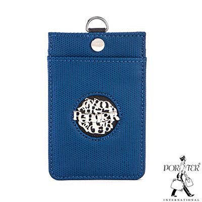 PORTER-風尚品味-掛繩證件套-藍