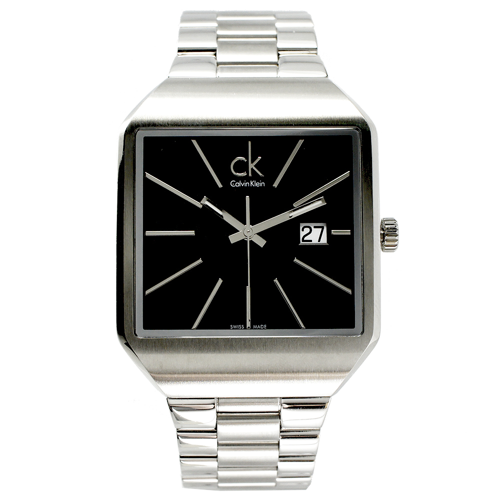 CK  Gentle 極簡紳士款男性手錶(K3L31161) - 黑/47mm