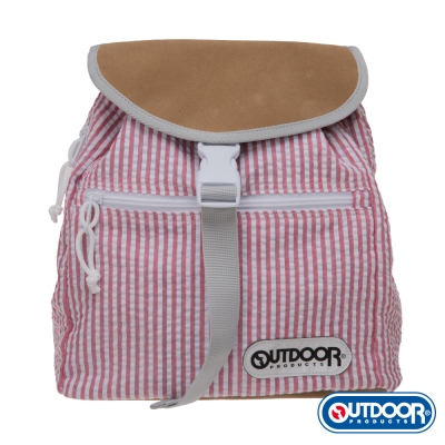 OUTDOOR-泡泡糖系列-全棉後背包-條紋紅 OD161104RD