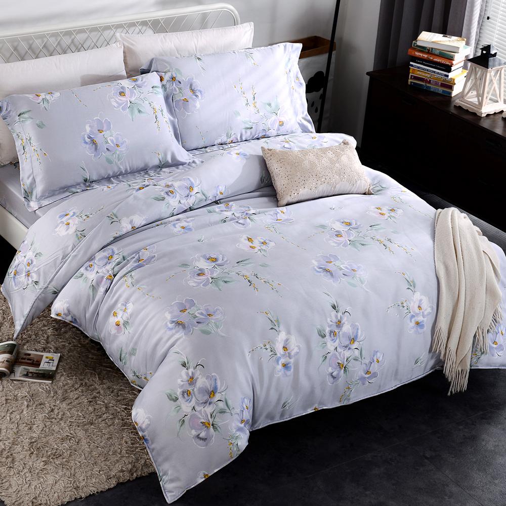HOYACASA戀影 雙人四件式抗菌天絲兩用被床包組