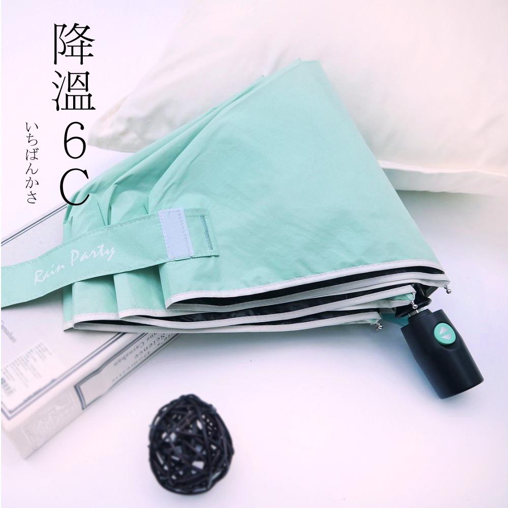 好傘王 自動傘系_不透光黑膠輕大傘(淡綠色)