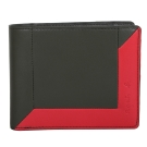 agnes b. 撞色雙折零錢袋短夾-綠/紅