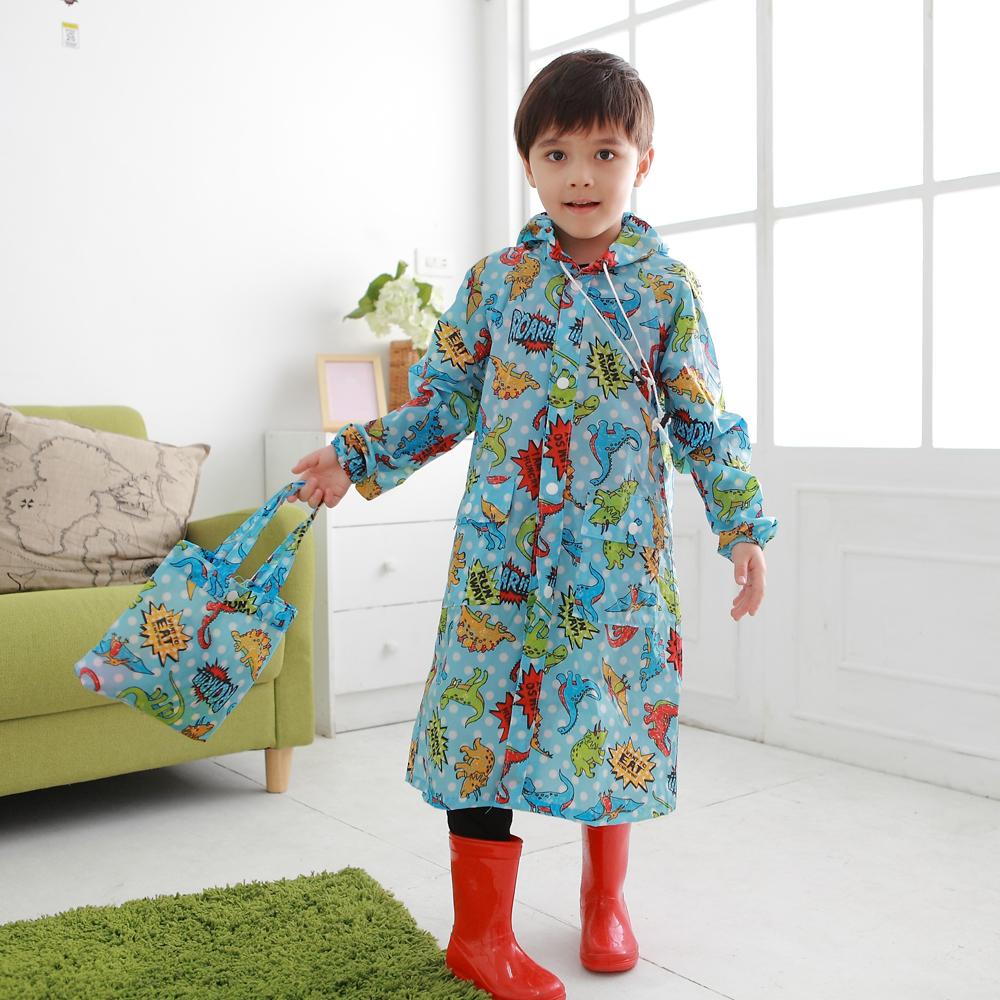 Anny pepe 兒童小恐龍無毒雨衣_100%台灣製造