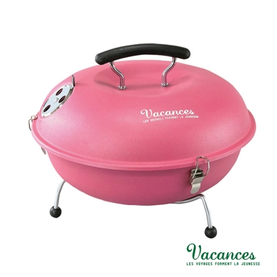 【日本 VACANCES】野餐度假 BBQ 輕量 粉色 馬卡龍造型烤肉爐  / 烤肉 烤箱