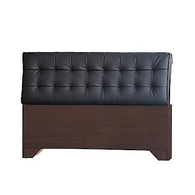 品家居 夏古5尺皮革雙人床頭片(二色可選)-155x15x98cm免組