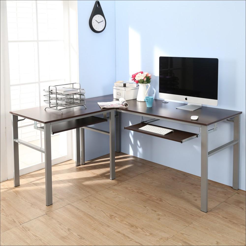 BuyJM低甲醛防潑水L型160+80公分雙鍵盤穩重型工作桌-DIY