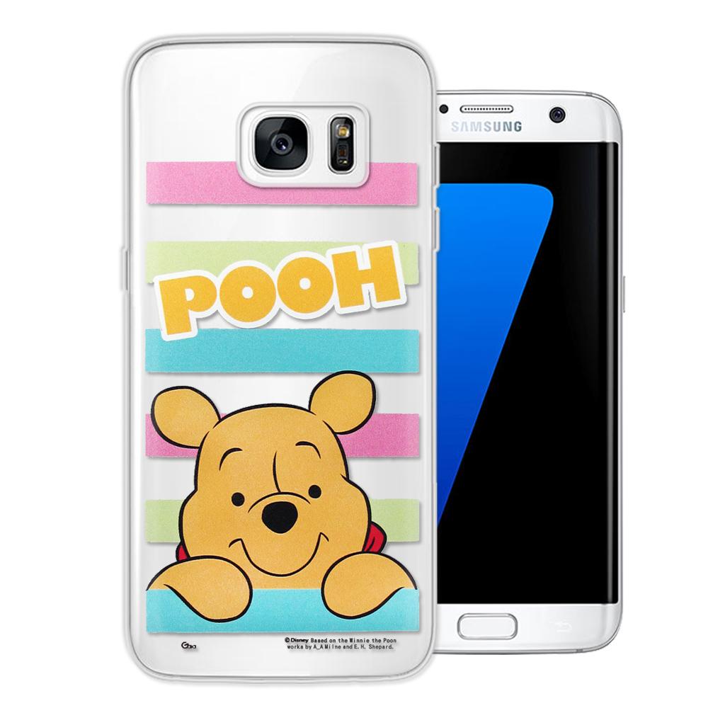 迪士尼授權正版 Samsung Galaxy S7 edge 大頭招呼系列手機殼(維尼)