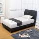 Boden 佩卡3.5尺黑色皮革單人床組 床頭片+床底 不含床墊 product thumbnail 1