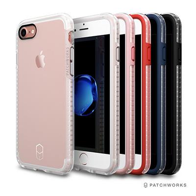Patchworks iPhone 7/8 雙層防摔氣墊邊框手機殼