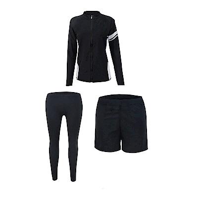 Biki比基尼妮泳衣  長袖三件套情侶沖浪男泳衣(M-XL)